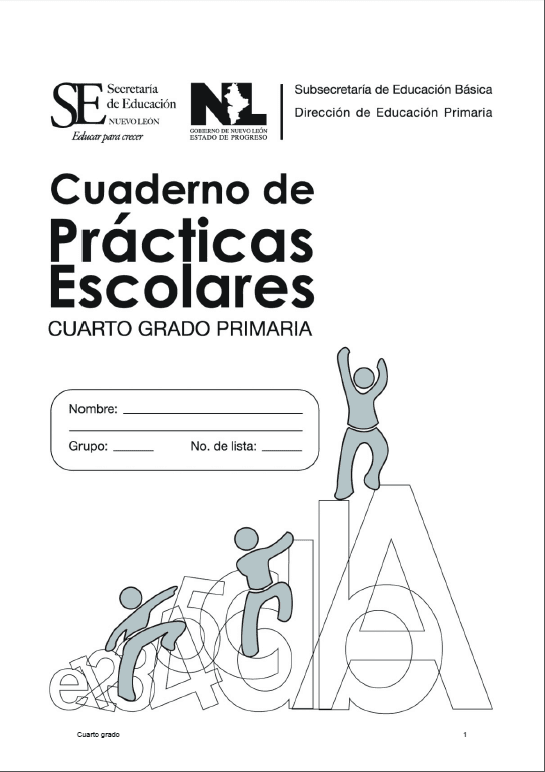 Cuaderno de Prácticas Escolares. Cuarto grado primaria | Guao