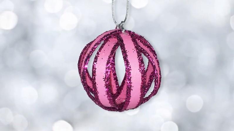 Manualidades Para Navidad Esferas Navidenas Bolas De Material - Videos-de-manualidades-para-navidad